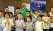 Тренировка с деца от Шанхай